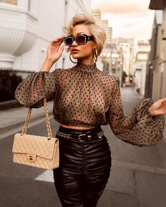 блузи принти горошек