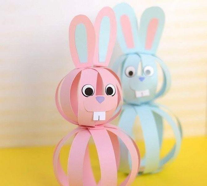 кролики из цветной бумаги