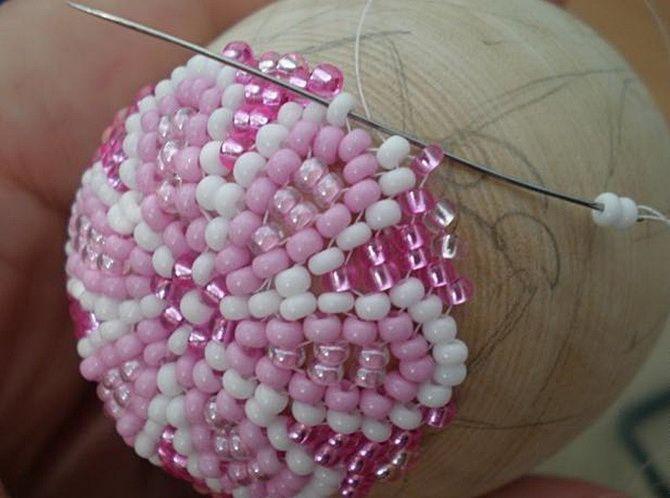 плетение из бисера пасхальные яйца