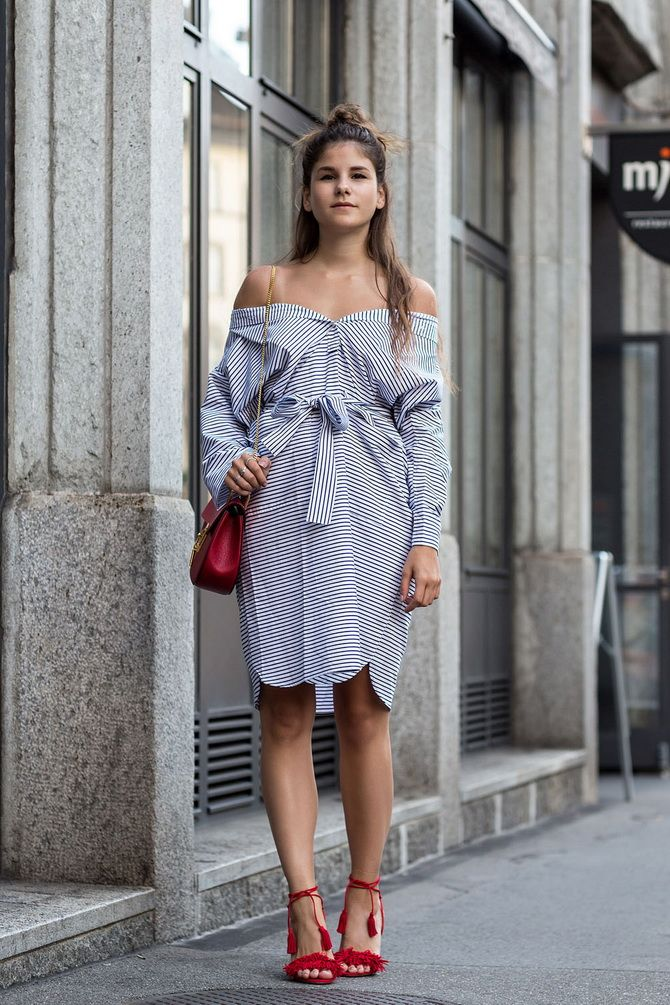 Платья-рубашки в полоску