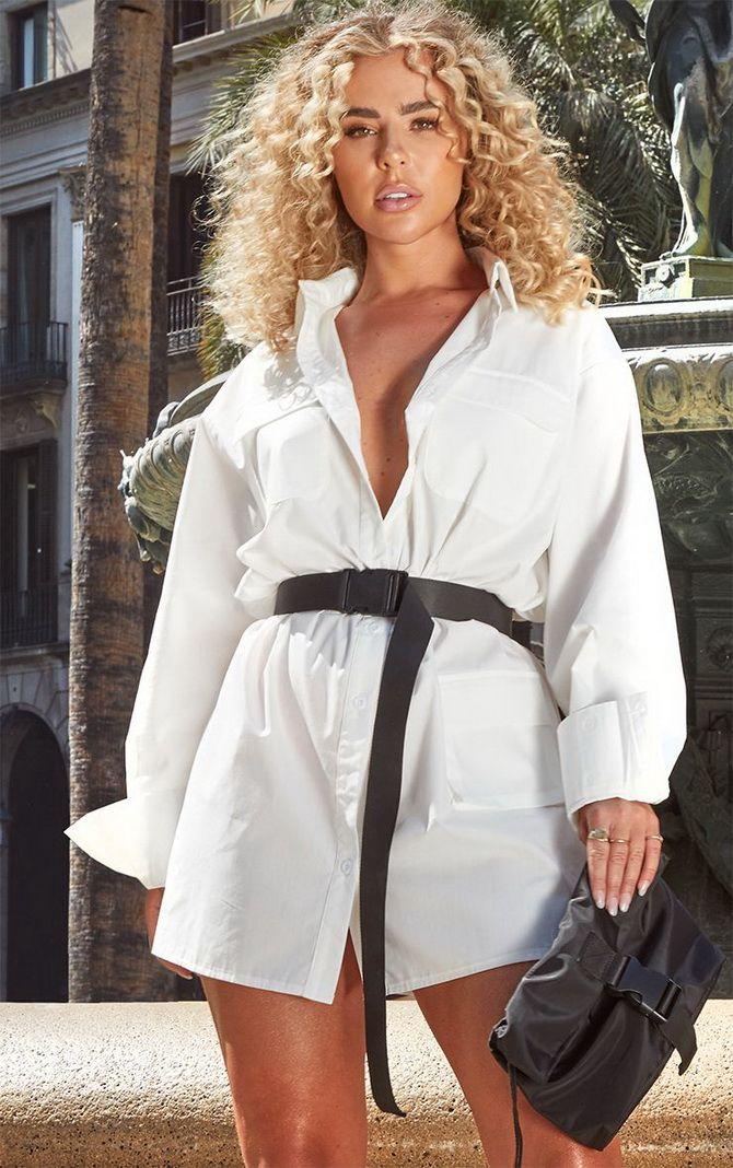 Белые платья-рубашки 2020