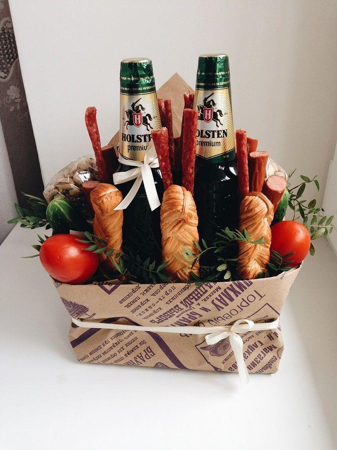 Їстівні букети для чоловіків з пивом