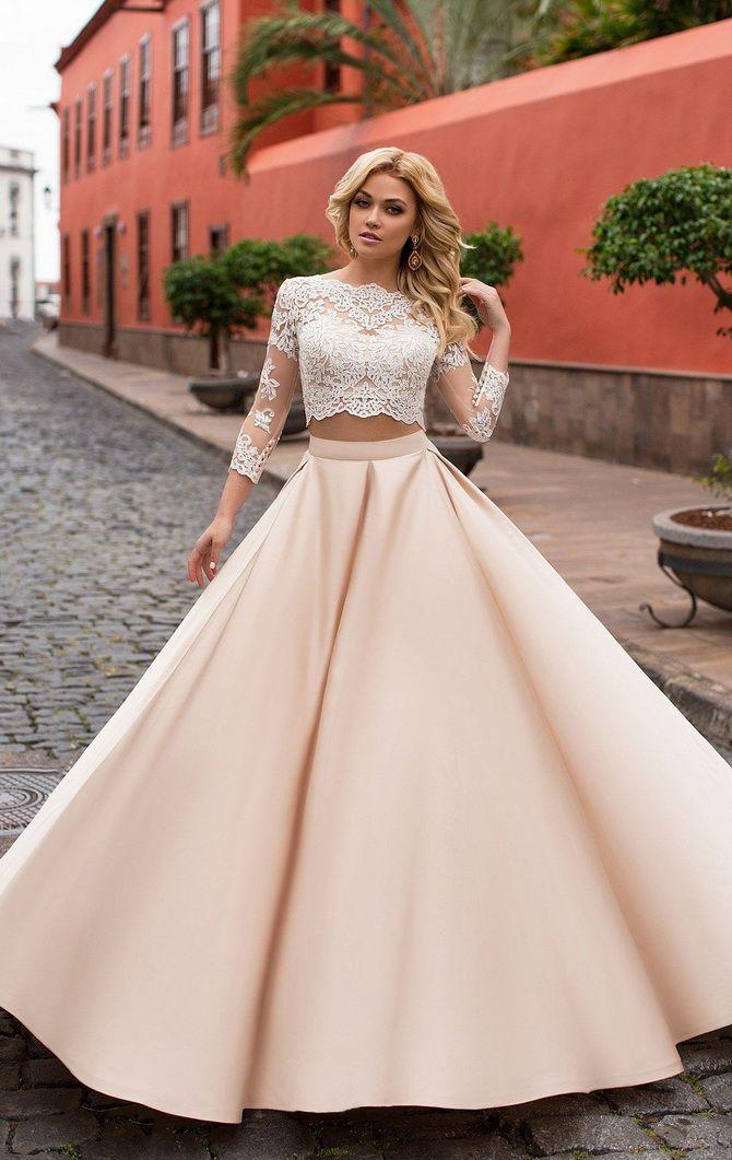 кроп топ платье