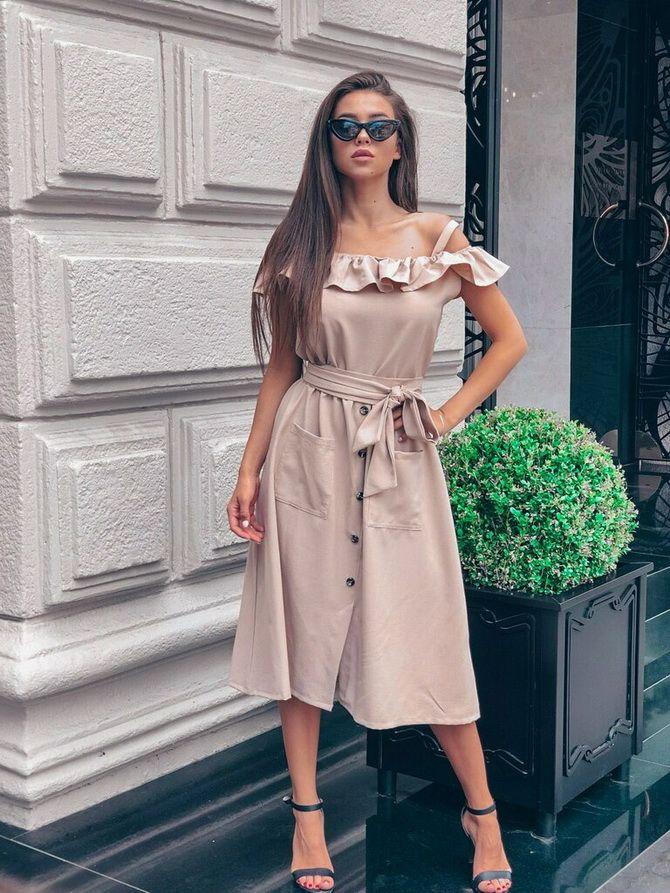 нюдовое платье рубашка