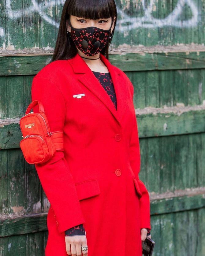 fashion-луки с защитной маской