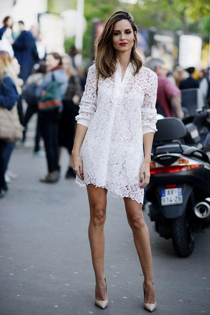 Нарядные платья-рубашки из кружева