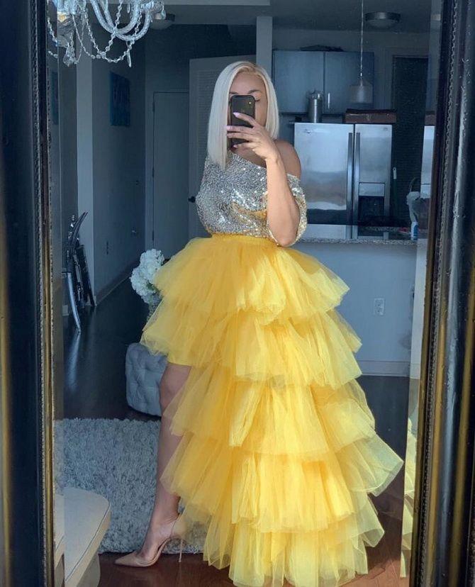 пышное платье на выпускной