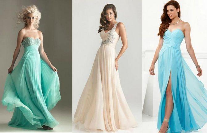 пастельные оттенки для выпускных платьев