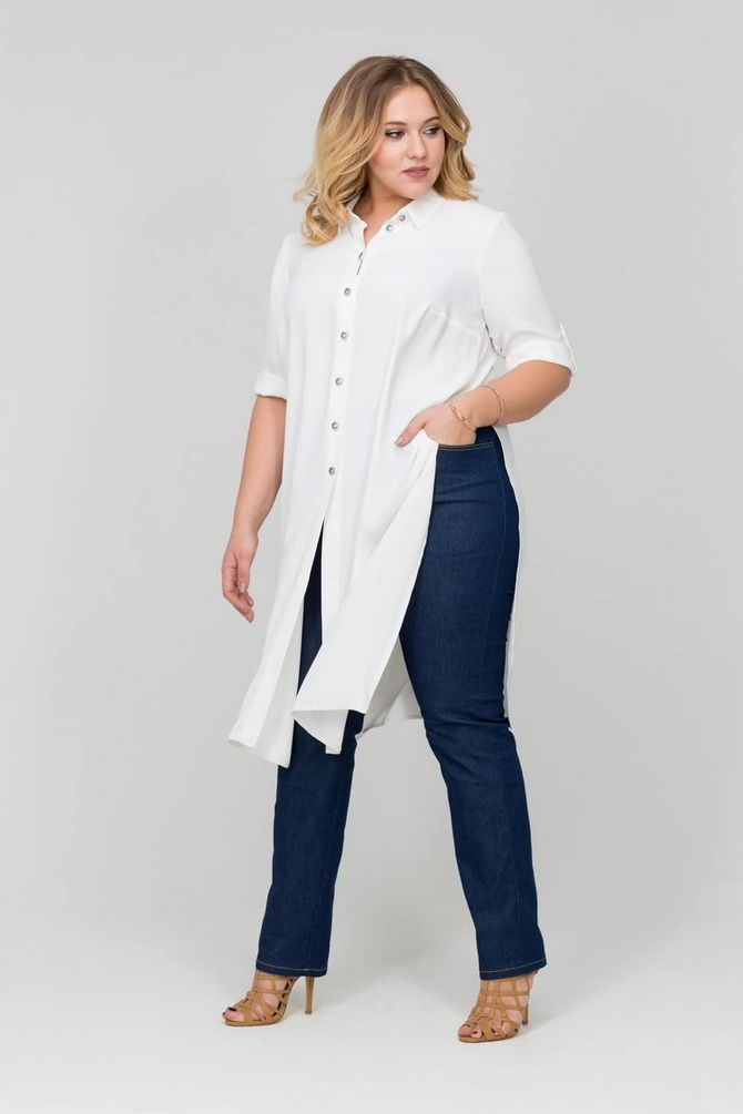 белые рубашки оверсайз