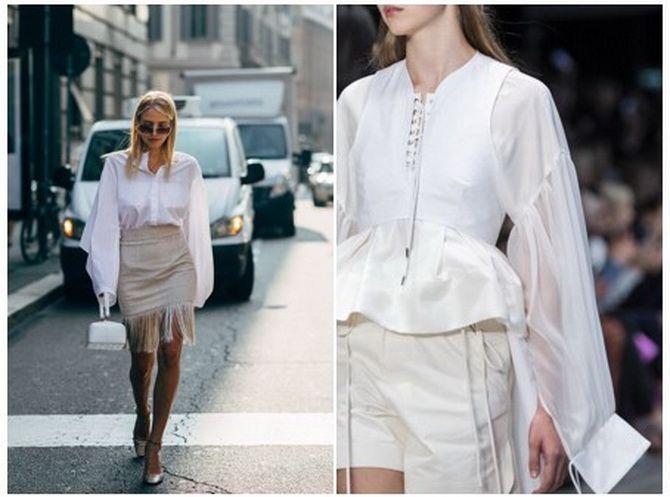 модные белые блузки 2020