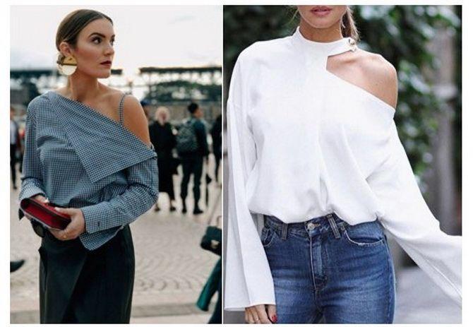 ассиметричный крой блузки