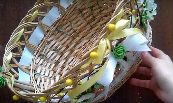 як прикрасити кошик на Великдень