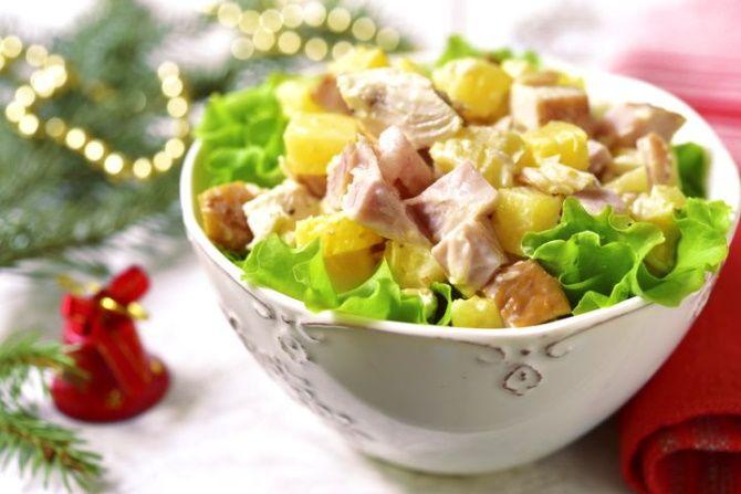 Гавайский салат для вегетарианцев