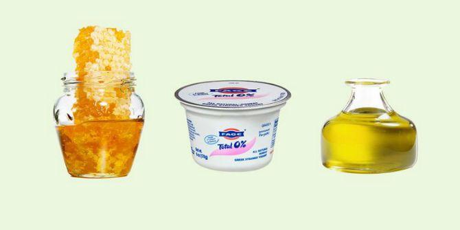 Поживна маска для пошкодженого волосся з йогуртом