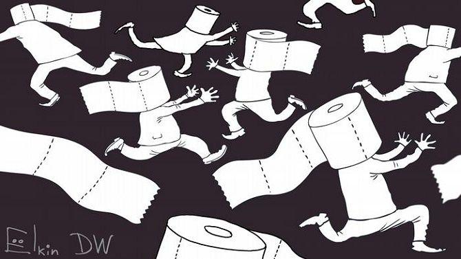 коронавирус карикатура