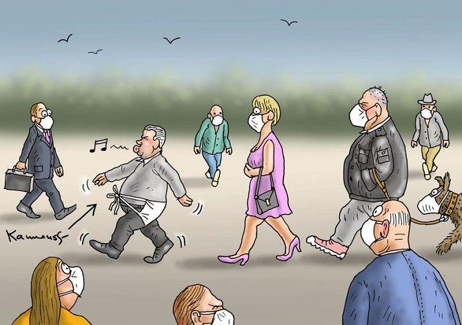 коронавірус карикатура