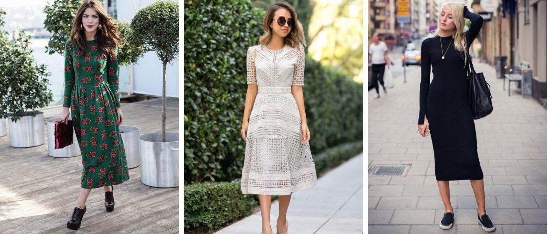 Міді-сукні-2021: стильно, жіночно, елегантно