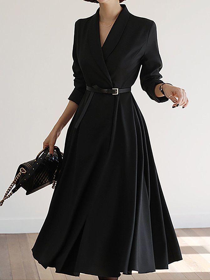 пышное платье миди