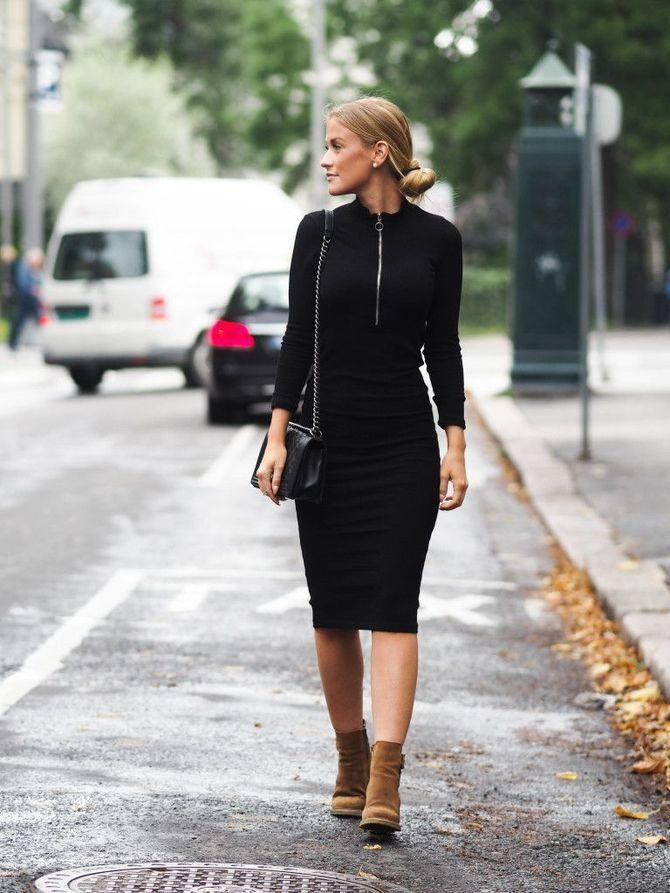 платье миди +с длинным рукавом