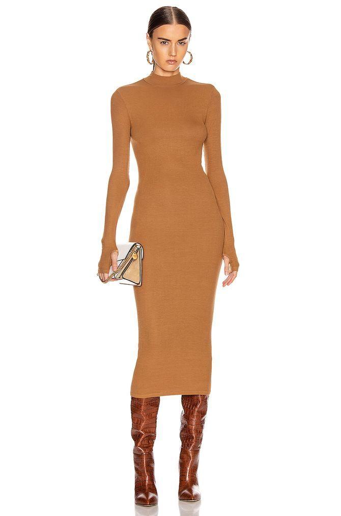 прямой платье миди
