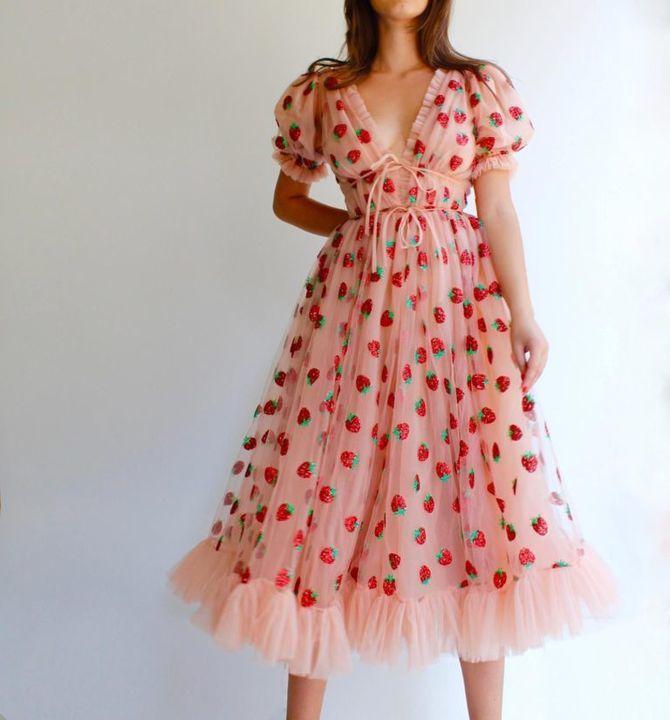 платья длинны миди
