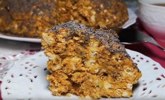 """Kuchen """"Ameisenhaufen"""" aus Keksen ohne Backen in 10 Minuten"""