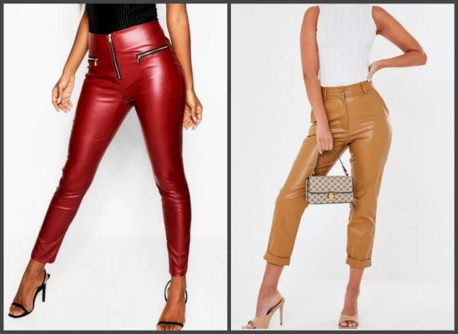 Кожаные брюки и сандалии