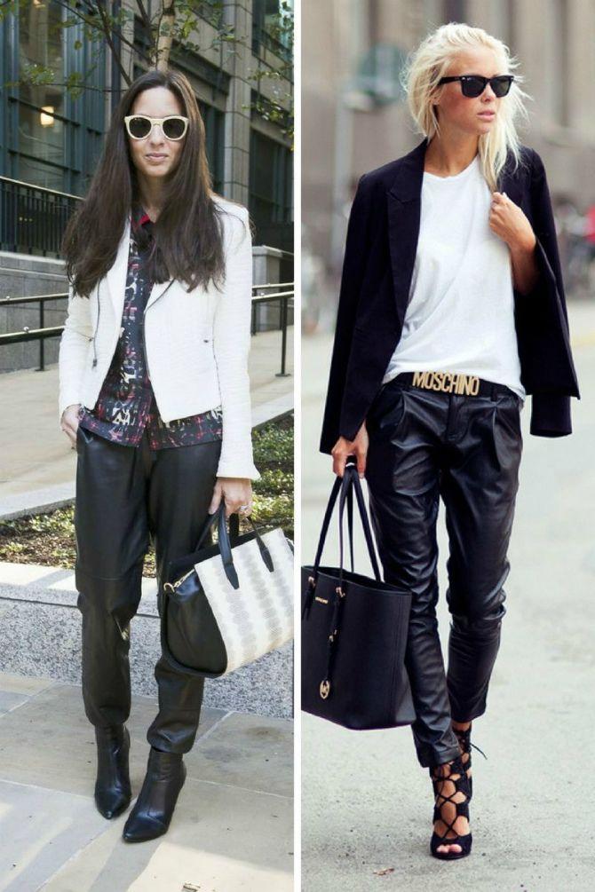 кожаные брюки 2020