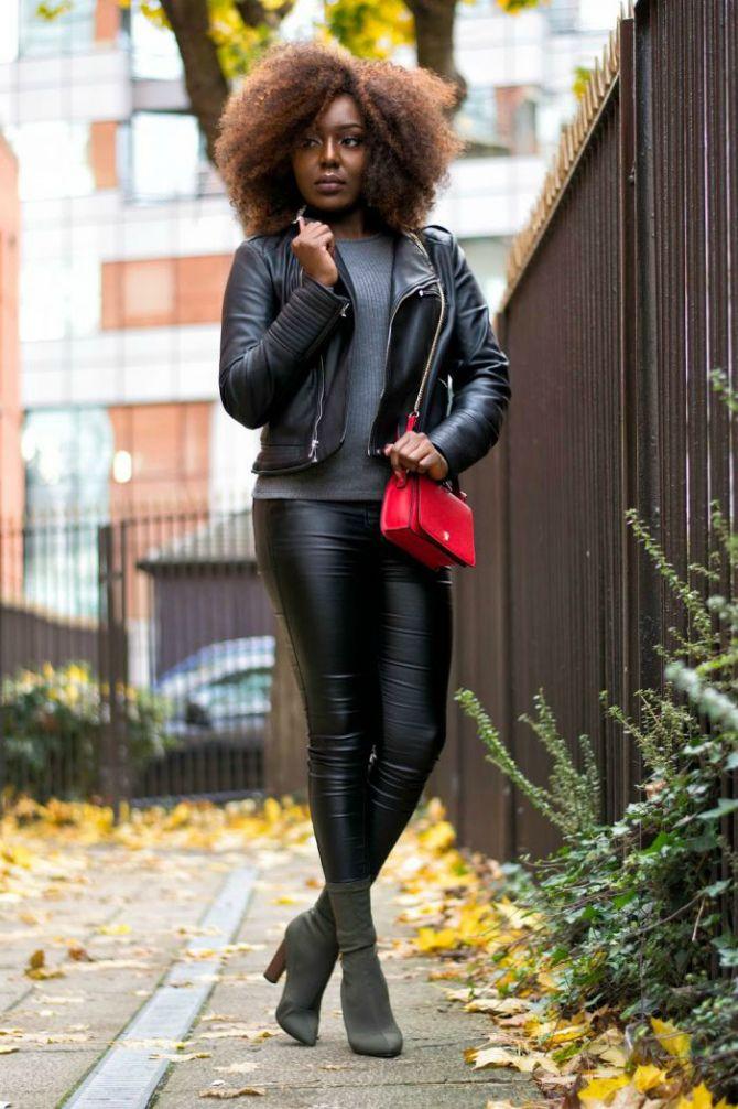 кожаные брюки с чем носить 2020