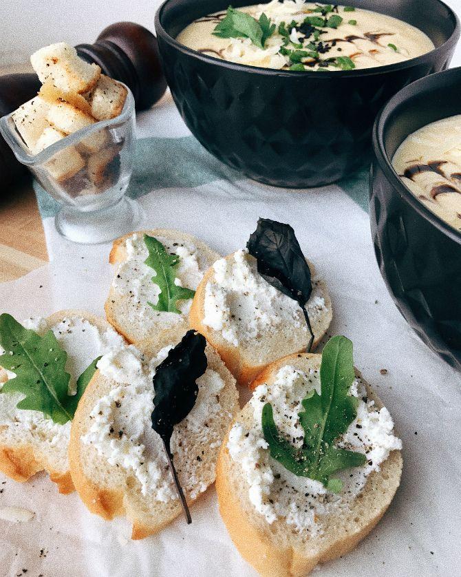 Грибной крем-суп из шампиньонов⠀