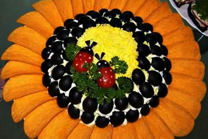 Sonnenblumen-Salat