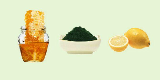 Питательная маска с медом и спирулиной