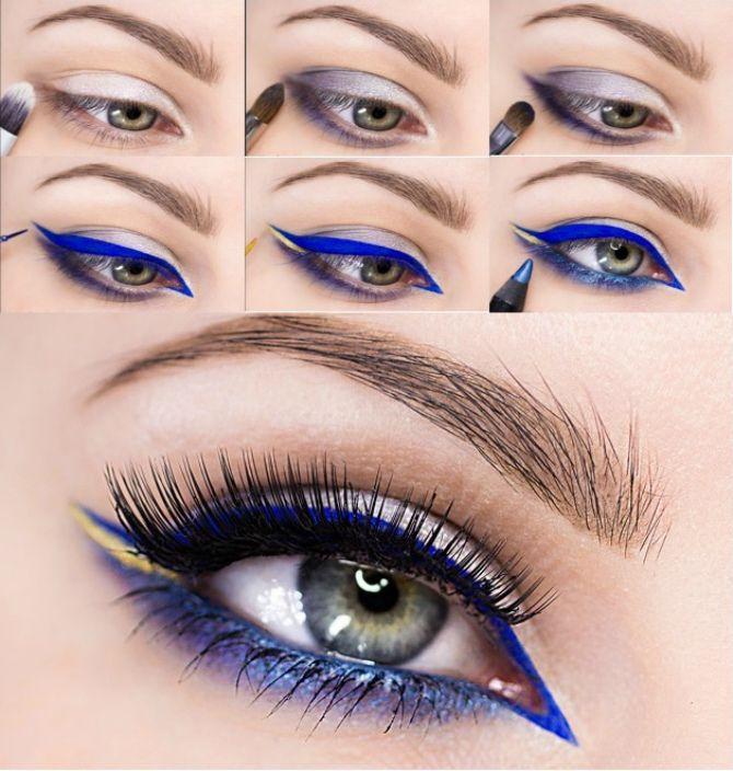 стрелки на глазах как рисовать для начинающих