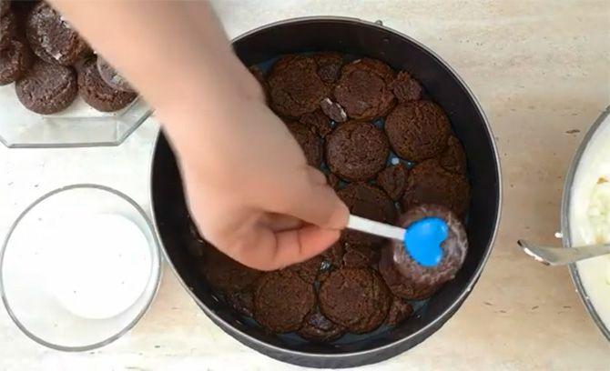 Kuchen aus Keksen