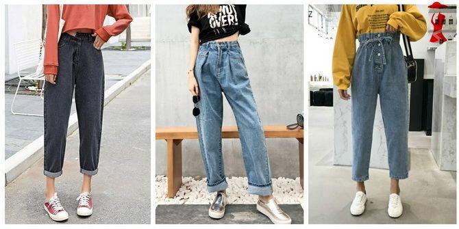 высокие черные джинсы
