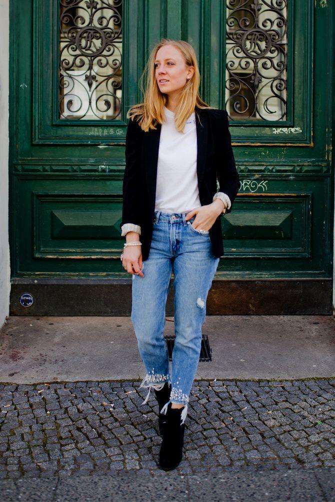 джинсы мом джинс