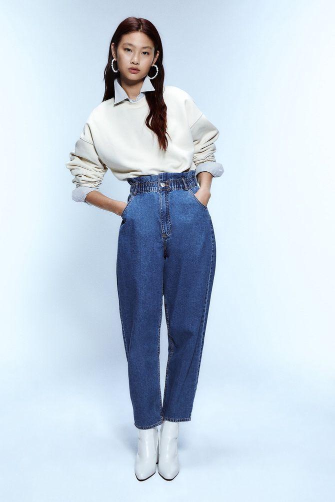 образы с джинсами бананами
