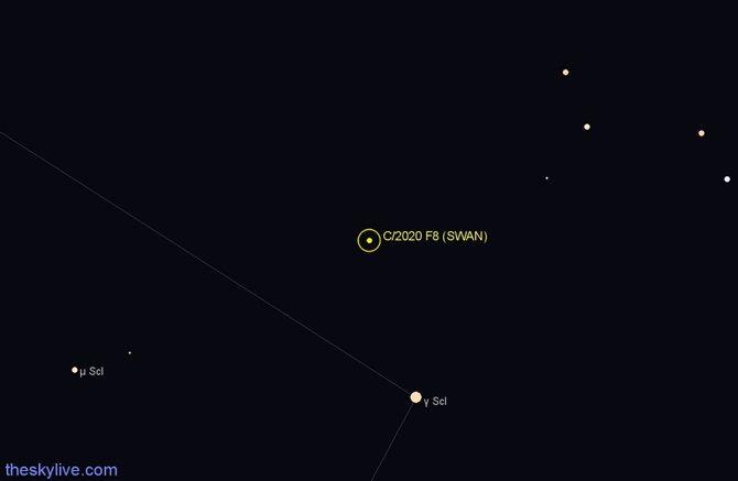 комета SWAN (C/2020 F8)