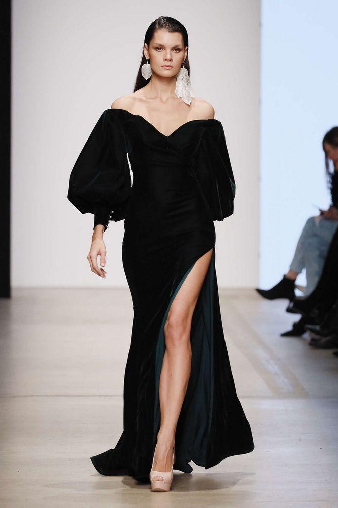 модные черные платья на выпускной 2020-2021
