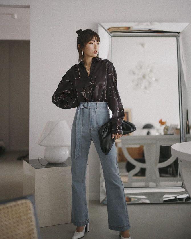 С чем носить широкие джинсы: подборка лучших идей 2021 2