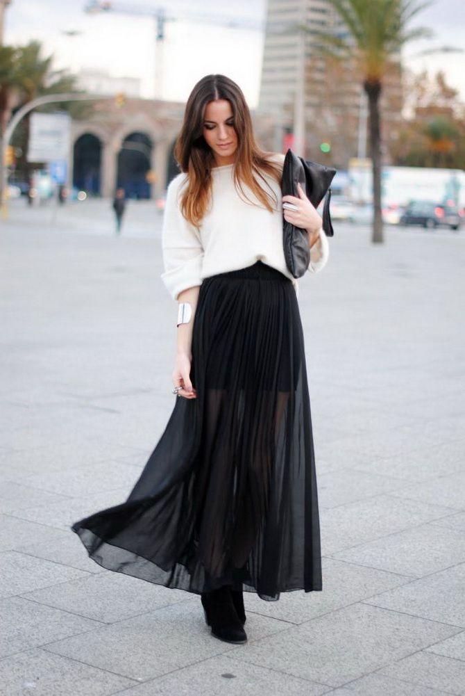 черные юбки макси 2020