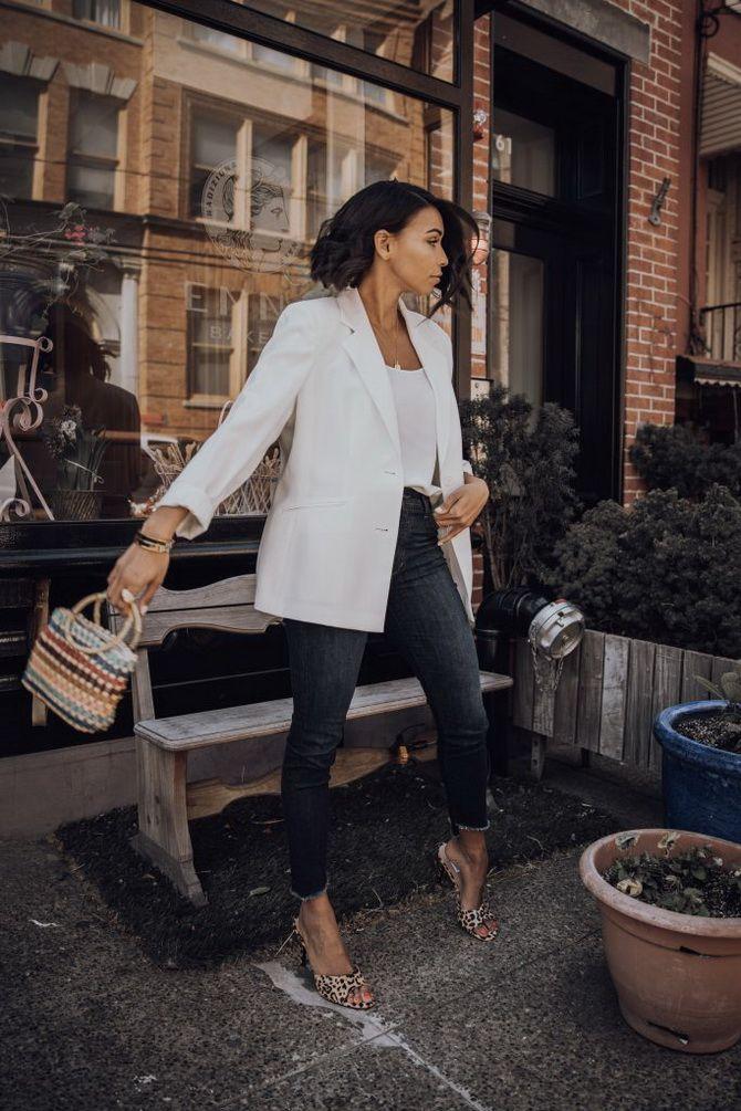 пиджак белого цвета