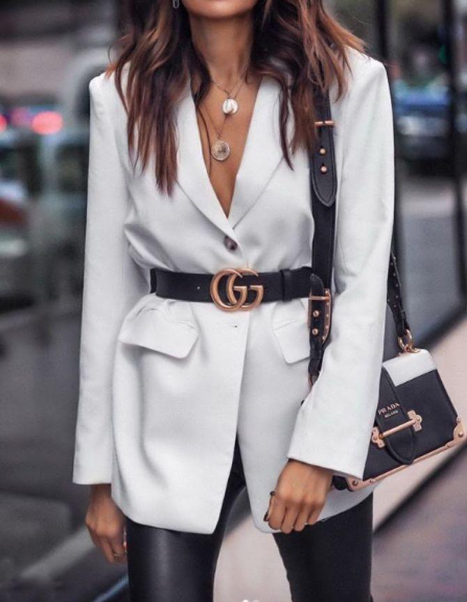 белый пиджак женский фото