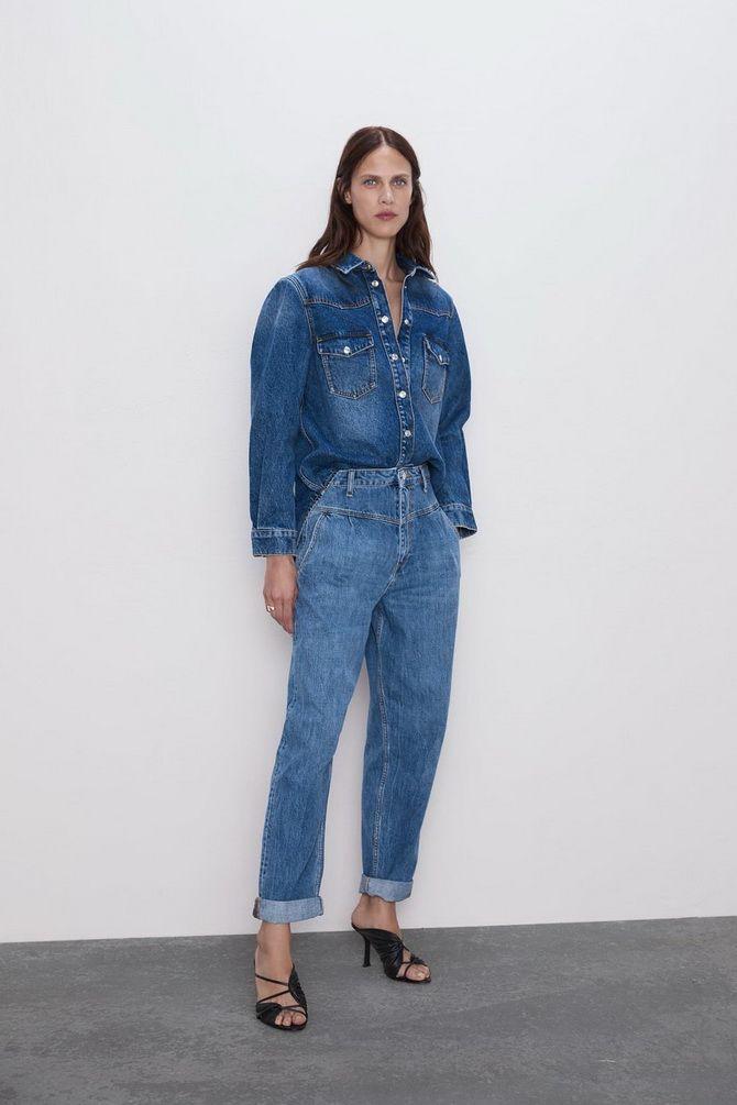 З чим носити джинси-банани в 2021 році: 45 модних ідей 23