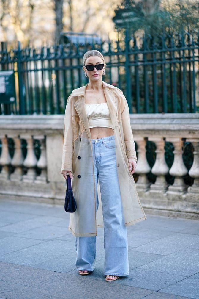 с чем носить широкие джинсы