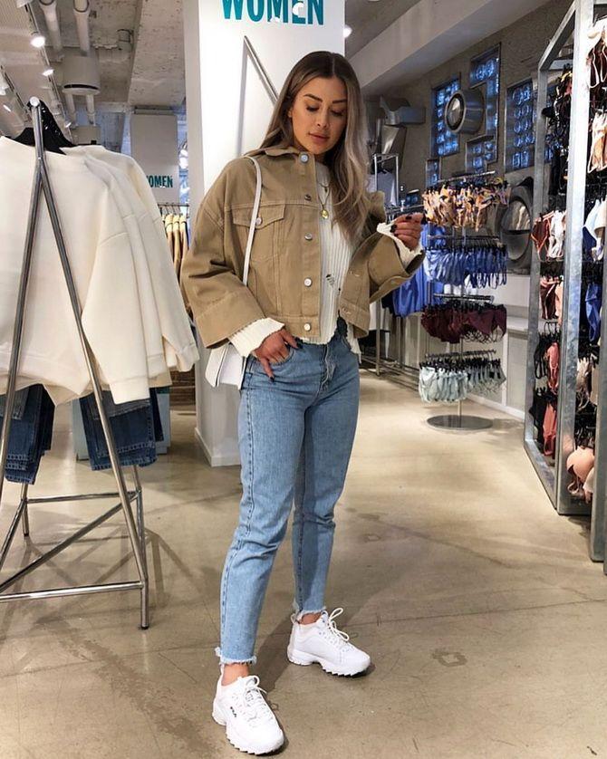 мом джинс с чем носить