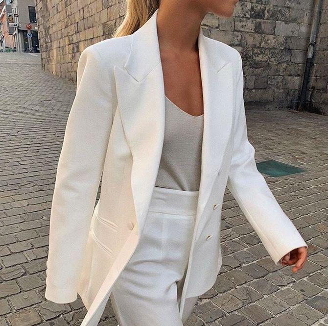 белый пиджак женский 2020