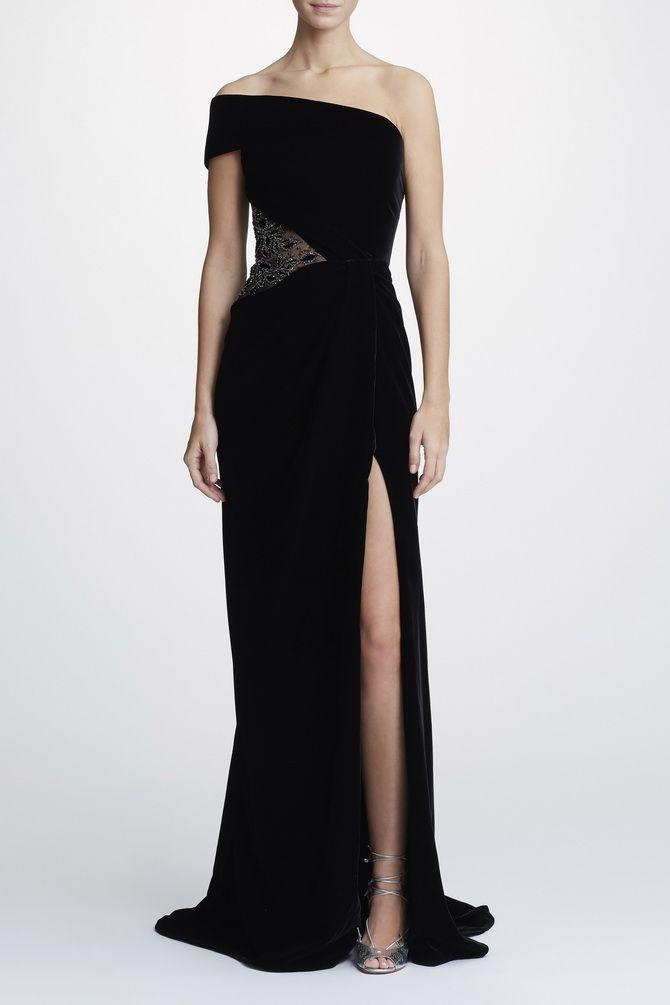 черное длинное платье на выпуск