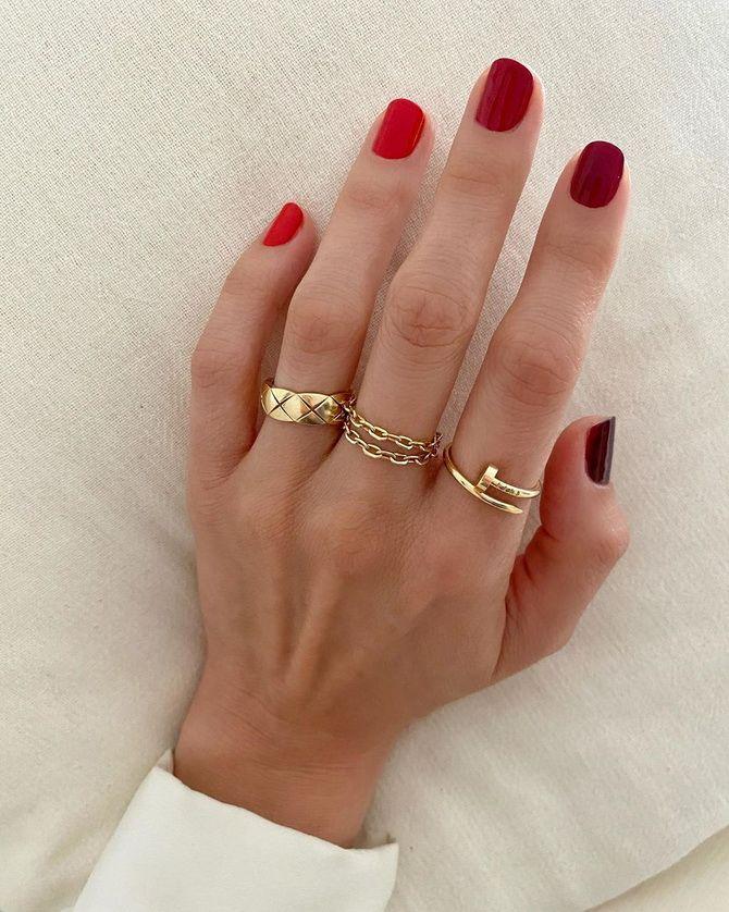 яркие ногти маникюр