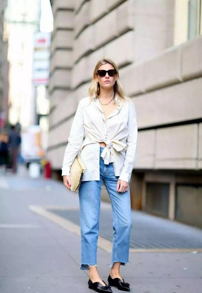 широкие джинсы с высокой талией